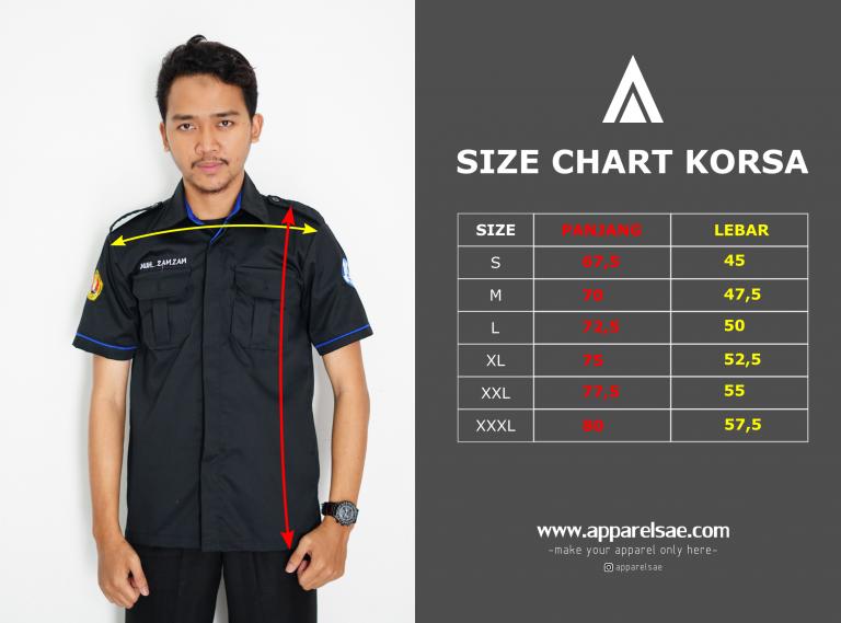 Size Chart standar nasional